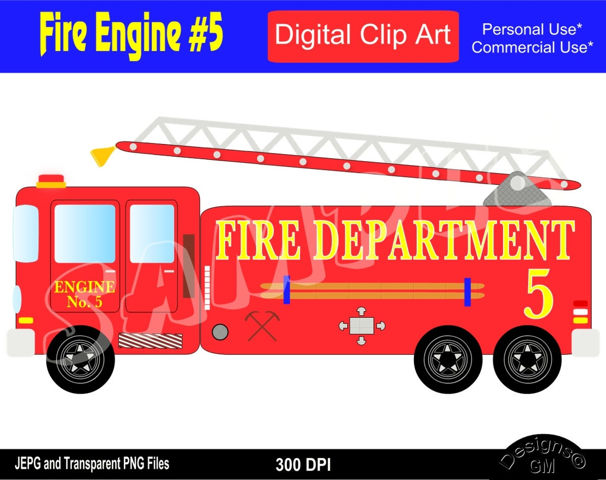 free clipart images fire trucks - photo #41