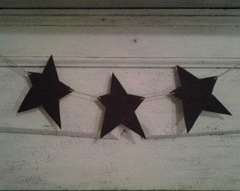 Reclaimed Barn Tin Star Garland
