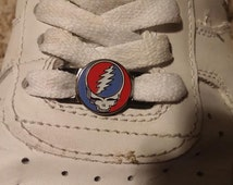 Dead Head Skull Shoe Lace Sneaker Laces Lacer Charms NOT a hat pin
