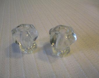 Vintage 1940's Glass/ Crystal Drawer Knobs
