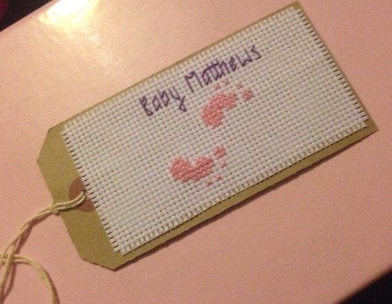 New Baby Boy Gift Tag : New baby gift tag customised for you