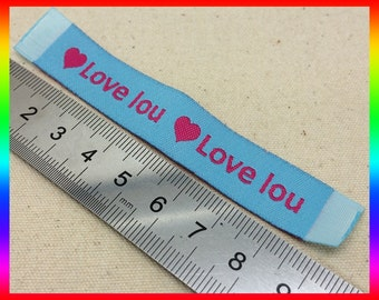 300 Custom clothing labels, Custom woven labels,Woven label for Text Only Clothing Labels