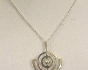 Vintage 1970's Willy Winnæss Silver Pendant