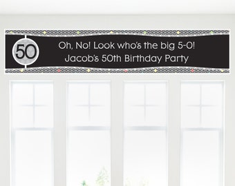 Adult 50th Birthday Party Banner - Birthday Party Decorations