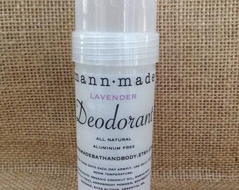 Lavender Deodorant - All Natural, Aluminum Free, Detox, 2oz
