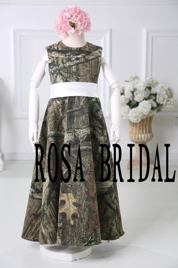 items similar to camo flower girl dress baby girl camo