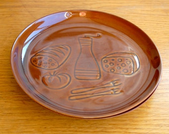 Mid Century Modern Pair of Cheese Plates From Ruszkow Poland