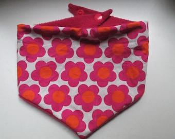 Scarf shawl flowers pink