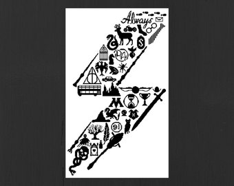 Harry Potter Scar: Icon Art PDF Cross Stitch Pattern