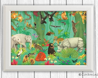 "Artprint ""Indian jungle"" limited edition"