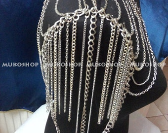 Silver Shoulder Chain, Body Chain , Necklace