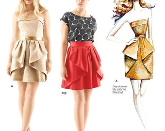 Simplicity Sewing Pattern 1690 Misses' Dress, Skirt & Top Leanne Marshall Collection