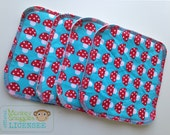 Cloth Wipes 4 Pack Introductory Price - Toadstools