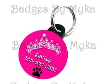 Princess Custom ID Pet Tag