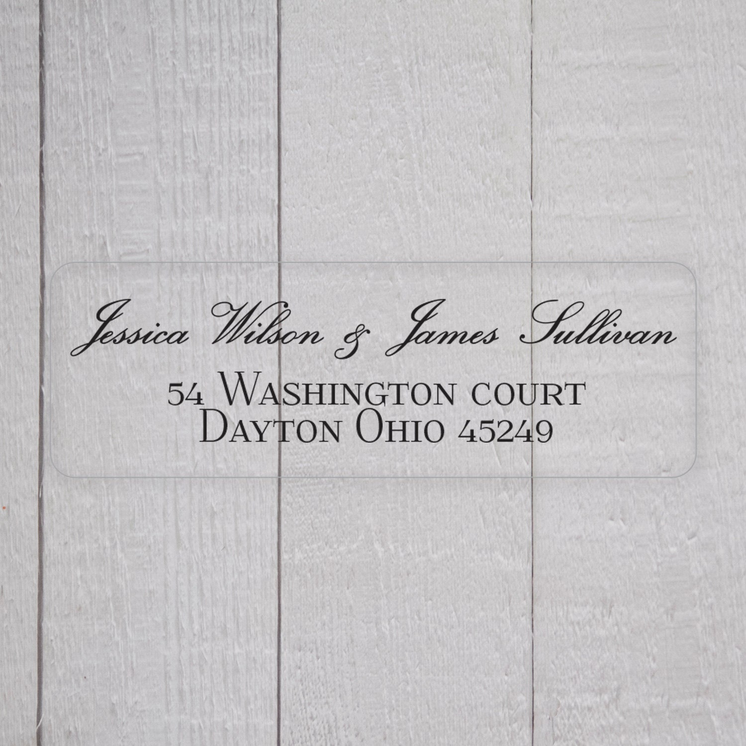 Wedding Invitation Return Address Labels White By