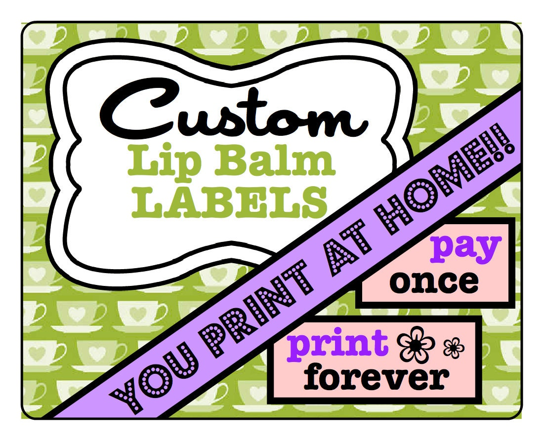 personalized lip balm labels printable custom labels. Black Bedroom Furniture Sets. Home Design Ideas
