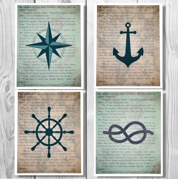 Nautical Decor, Nautical, Anchor Decor, Bathroom Decor Nautical, Bathroom  Sign, Nautical Bathroom Decor, Bathroom Art Bathroom Wall Art 0335
