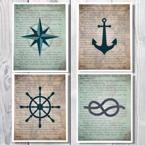 Nautical decor nautical anchor decor bathroom decor - Nautical decor bathroom ...
