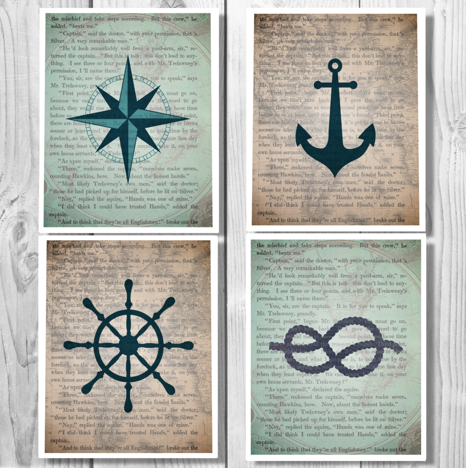 Nautical decor nautical anchor decor bathroom decor for Anchor decoration
