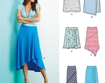 SimplicityPattern  1163 Misses' Knit Skirts with Length Variations