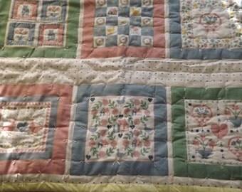 Handmade Tie Baby Quilt