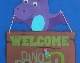 Dinosaur Door Sign/ dinosaur sign/ dino door sign