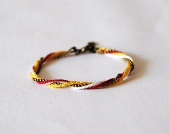 Bracelet KAHOMNI - yellow - white - raspberry - bronze