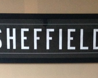 Sheffield Bus Blind - Destination Blind - Bus Memorabilia - Travel Sign - Travel Gift - Bus Souvenir - Destination Sign - Sheffield Art