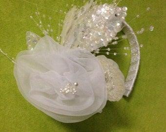 Vantage Flowers, Wedding Headband, Bridal Hair Garland, Bridal Headpiece.