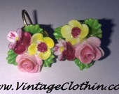 50s Jewelry: Earrings, Necklace, Brooch, Bracelet c1950s Vintage Denton England Porcelain Flower Screw Back Earrings  Denton England Screw Back Earrings 1950s Earrings Vintage Earrings $22.99 AT vintagedancer.com