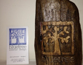 Driftwood Carving of Your Business Logo