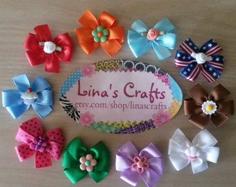 Velcro Hair Bows, Baby Hair Bows, Newborn Hair Bows, Small Dog Bows, Little Girl Hair Bows, Baby Shower Gifts, Hair Accessories