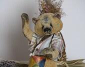 Pattern  Teddy bear Drago -24 cm.- 9.44 inchs/ Artist Pattern-stuffed animals-stuffed bear-artist teddy bear- pattern teddy bears