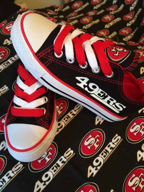 san francisco 49ers tennis shoes by sportzfanatics on