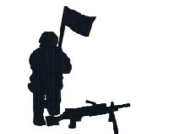 Kneeling Soldier Etsy