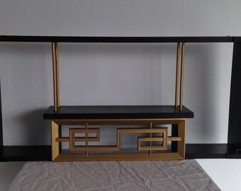 Vintage Black & Gold Asian Shelf