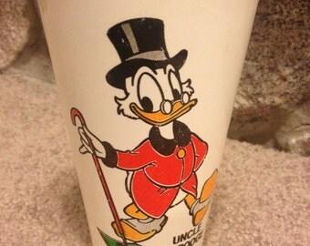Vintage 1980s Uncle Scrooge McDuck Plastic Cup