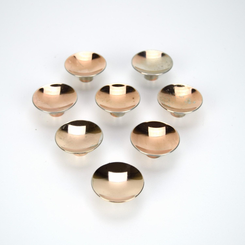 Retro Distressed Copper Concave Knobs Set of 8 Kitchen
