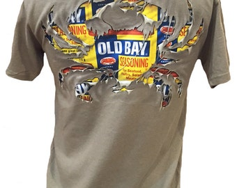 Old Bay Ripped Crab Short Sleeve T-Shirt