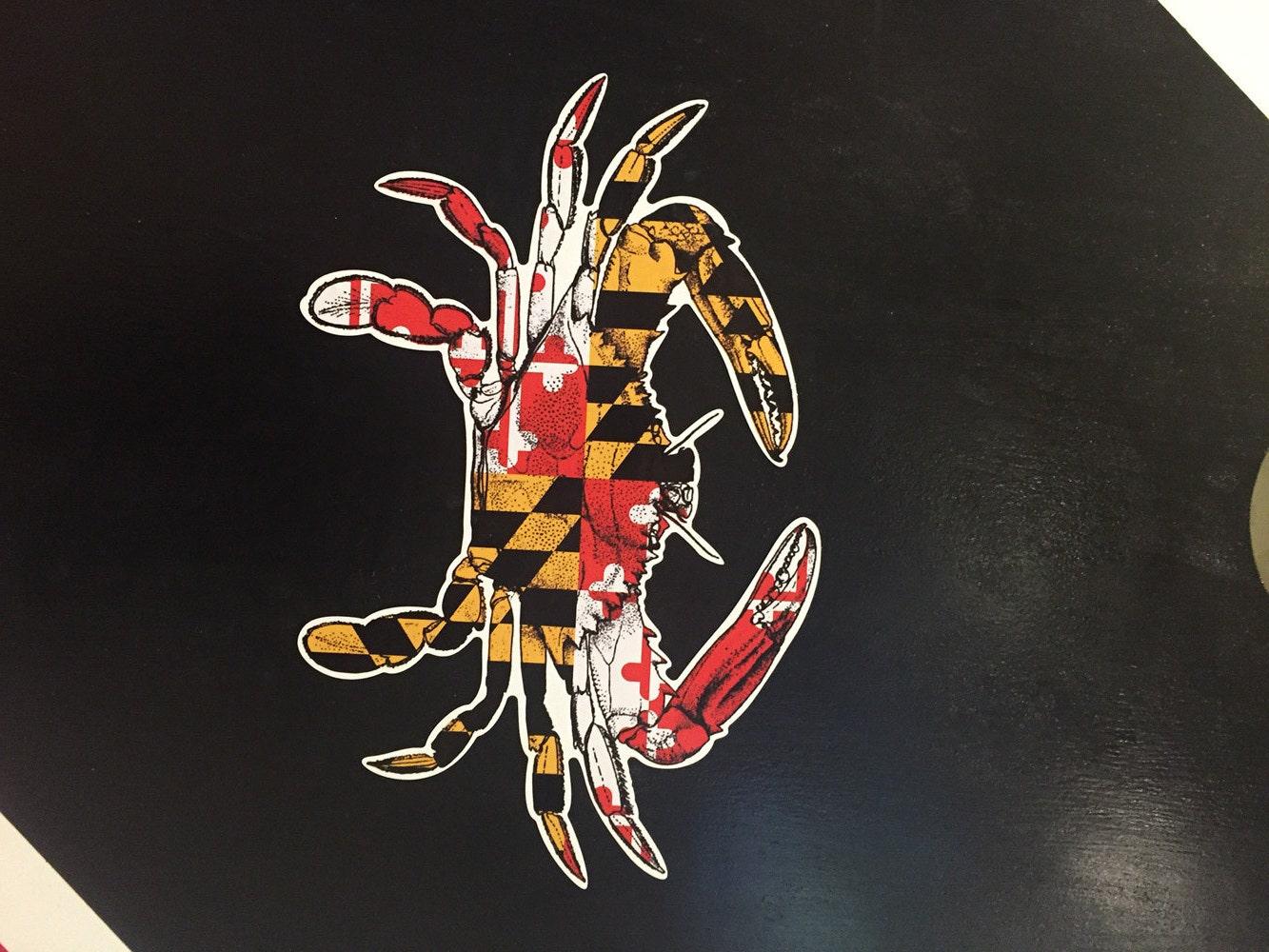 Maryland Flag Crab Vector Maryland Flag Crab Vinyl Decal