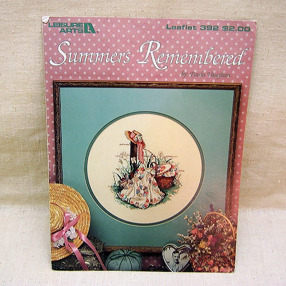 Remembered Summers: Vintage Cross Stitch Pattern