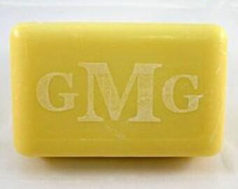 Soap, Single Bar, Bath Size Lemon Verbena, Personalized/Monogrammed - Laser Engraved