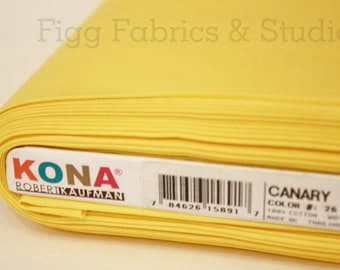 KONA Cotton in Canary (Color 26)