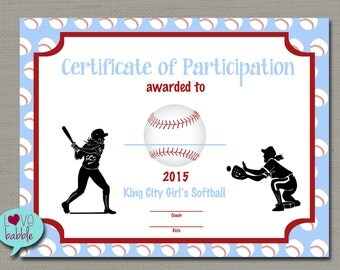 softball award etsy baseball award certificate templates free printable baseball certificate