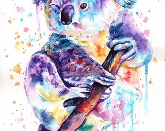 Koala - mounted original painting