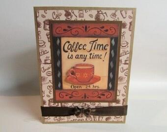 handmade Coffee Time Greeting Card