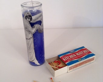 Hollywood Starlet Handmade Prayer Candle Decoupage Cut Out Magazine Vogue