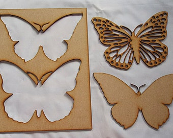 Twin Butterfly Stencils for further embelishment or to use for your project Choose size