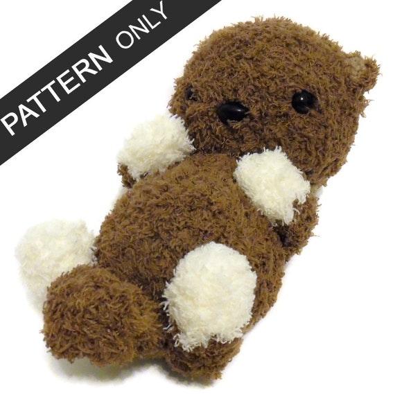 Free Amigurumi Otter Pattern : PATTERN Fluffy Otter Baby Amigurumi Crochet Plush PDF