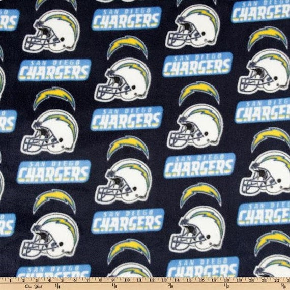 Fleece Designer Sports Fabric San Diego Chargers By Fabriccult